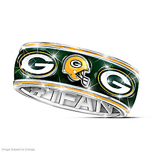Officially Licensed Packers Unisex Spinning Band Ring