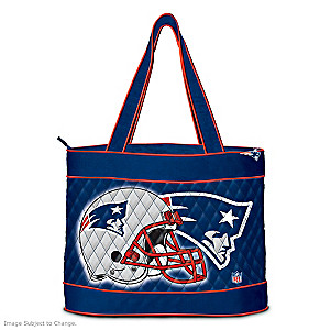 New England Patriots Tote Bag With Free Cosmetic Case