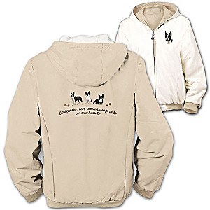 """Loyal Companion"" Boston Terrier Reversible Jacket"