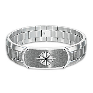 """Forge Your Own Path, My Son"" Engraved Stainless Bracelet"