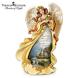 "Thomas Kinkade ""Angel Of Grace"" Illuminated Angel Figurine"