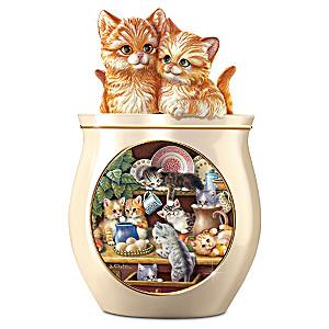 Jürgen Scholz Kitten Art Ceramic Cookie Jar