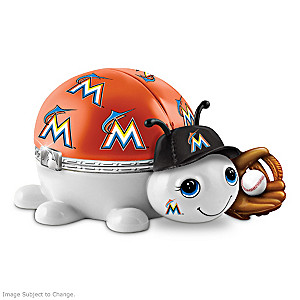 Miami Marlins Love Bug Heirloom Porcelain Music Box