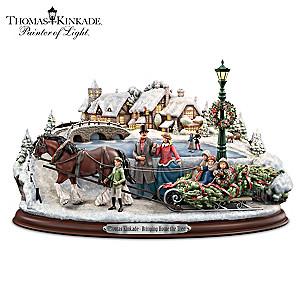 Thomas Kinkade Christmas Sculpture With Lights And Music