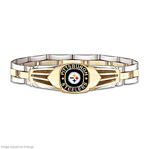 Pittsburgh Steelers Men S Stainless Steel Bracelet