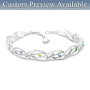 """Wishes For My Daughter"" Personalized Crystal Bracelet"