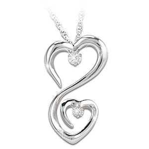 Always My Daughter Diamond Sterling Silver Pendant Necklace
