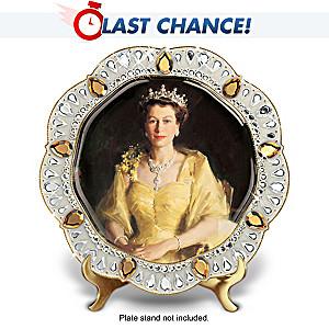 Queen Elizabeth II Diamond Jubilee Porcelain Collector Plate