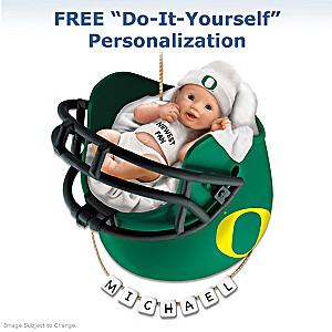 "Personalized ""Ducks Fan"" Baby's First Christmas Ornament"