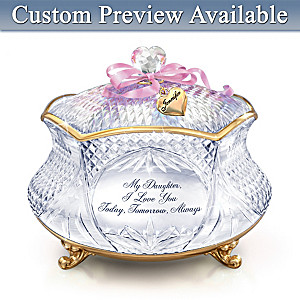 My Daughter, I Love You Personalized Crystal Music Box