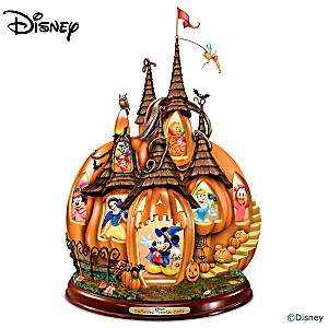 """Disney's Enchanted Pumpkin Castle"" Illuminated Sculpture"