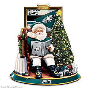 Philadelphia Eagles Night Before Christmas Talking Santa