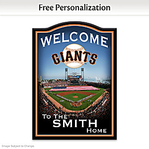 San Francisco Giants Welcome Sign Personalized With Name