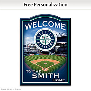 Mariners Wooden Welcome Sign Personalized With Name