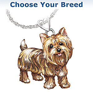 Diamond Dog Pendant Necklace With Movable Legs And Tail