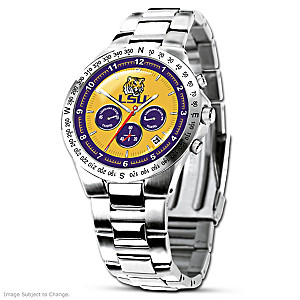 LSU Tigers Commemorative Stainless Steel Watch