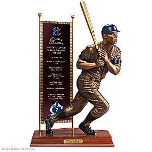 MICKEY MANTLE Commemorative Cold-Cast Bronze Sculpture