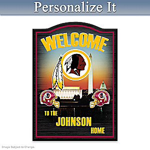 Washington Redskins Welcome Sign Personalized With Name