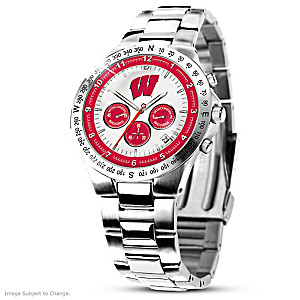 Wisconsin Badgers Commemorative Chronograph Watch