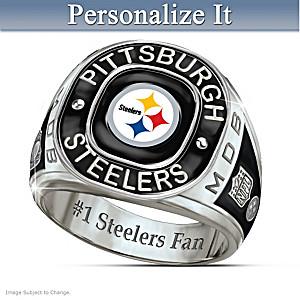 Pittsburgh Steelers Monogrammed Men's Ring