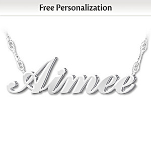 """Granddaughter, I Love You"" Personalized Diamond Necklace"