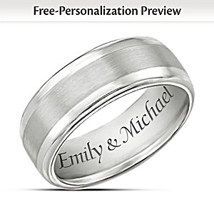 personalized wedding band style tungsten mens ring - Personalized Wedding Rings