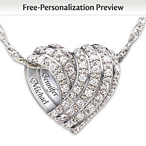 """All My Love"" Personalized Diamond Pendant Necklace"