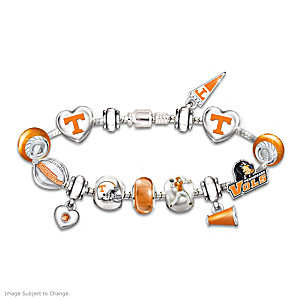 Tennessee Volunteers Charm Bracelet With Swarovski Crystals
