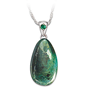 shopby pendants branch qp white emerald and jewellers vine gold necklace necklaces diamond in pendant