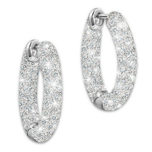 """Love's Whisper"" Diamond Earrings Engraved With ""I Love You"""