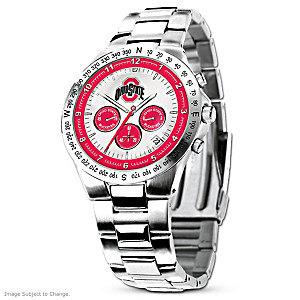 Ohio State Buckeyes Commemorative Stainless Steel Watch