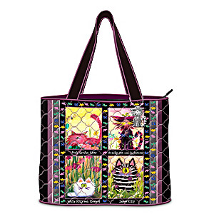 Cranky Cats Tote Bag With Cynthia Schmidt Artwork