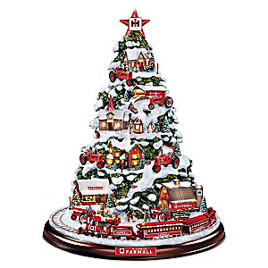 Farmall Heart Of The Holidays Lighted Tree With Moving Train