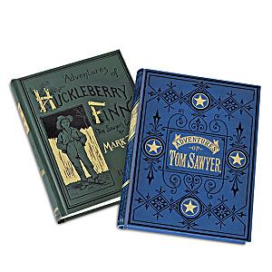 "First Edition Replicas Of ""Tom Sawyer"" & ""Huckleberry Finn"""