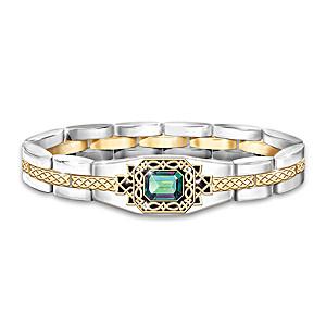 """Legend Of Ireland"" Men's Bracelet With Genuine Mystic Topaz"