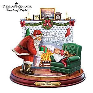 """Thomas Kinkade Lighted, Musical """"The Warm Glow Of Christmas"""""""