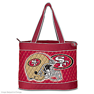 San Francisco 49ers Tote Bag With Free Cosmetic Case