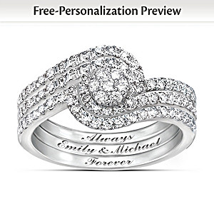 "Personalized ""The Story Of Our Love"" 3-Band Diamond Ring"