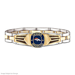 Denver Broncos Men's Stainless Steel Bracelet