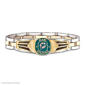 Miami Dolphins Men's Stainless Steel Bracelet