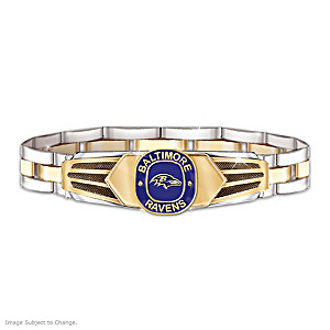 Baltimore Ravens Men's Stainless Steel Bracelet