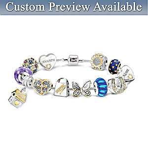 Create Your Own Charm Bracelet: 1 Name Charm, Plus 11 More
