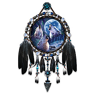 "Robin Koni ""Wolf Songs"" Glow-In-The-Dark Dreamcatcher"