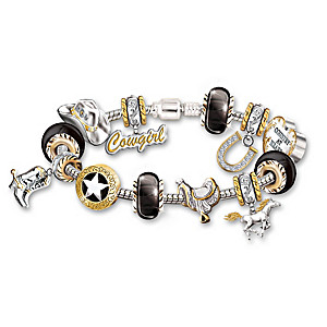 """Country At Heart"" Charm Bracelet With Swarovski Crystals"
