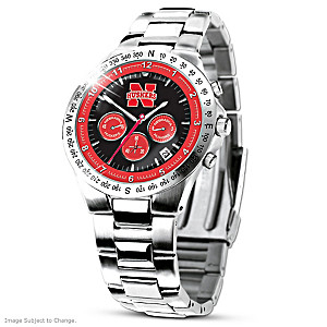 Nebraska Cornhuskers Commemorative Stainless Steel Watch
