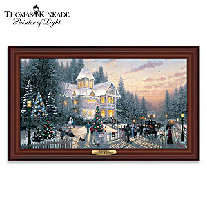 "Thomas Kinkade ""Victorian Christmas"" Lighted Canvas Print"