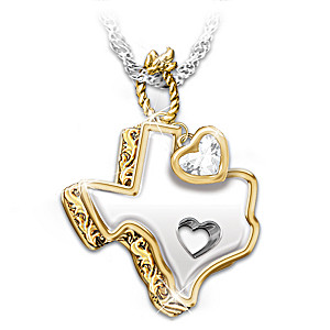 White topaz pendant necklace texas girl at heart texas girl at heart white topaz pendant necklace aloadofball Images