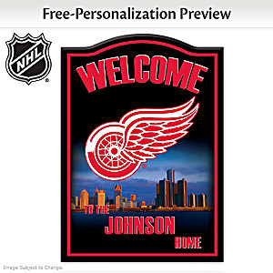 Detroit Red Wings® Welcome Sign Personalized With Name