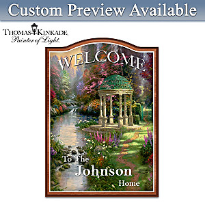 Thomas Kinkade Personalized Welcome Sign: Choose A Design