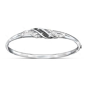 """""""Midnight Serenade"""" Black And White Diamond Women's Bracelet"""